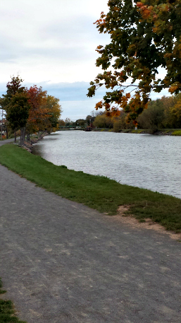 Along the Erie Canal.
